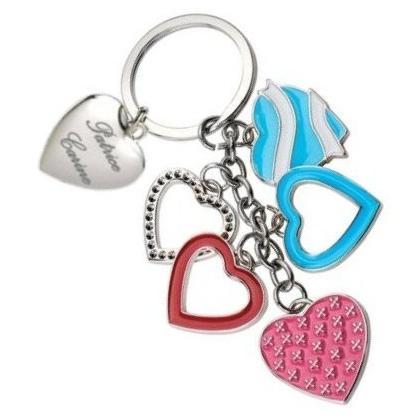 Porte-clés multi coeurs